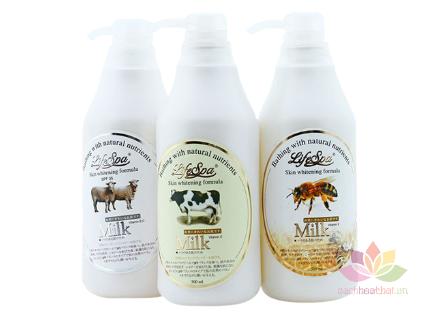 Sữa tắm trắng da hương nước hoa LifeSpa Milk ảnh 1
