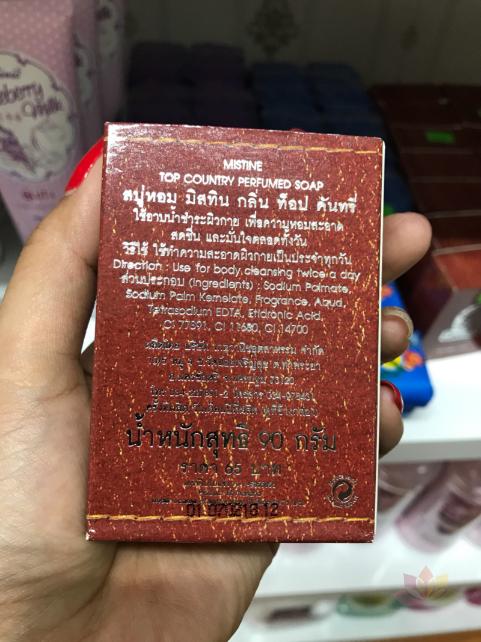 Xà phòng hương nước hoa cho Nam Mistine Top Country Perfumed Soap ảnh 6