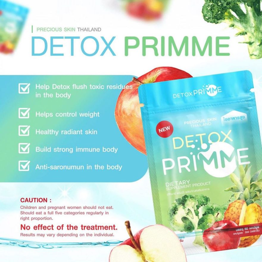 Viên uống khử mỡ thải độc Detox Primme