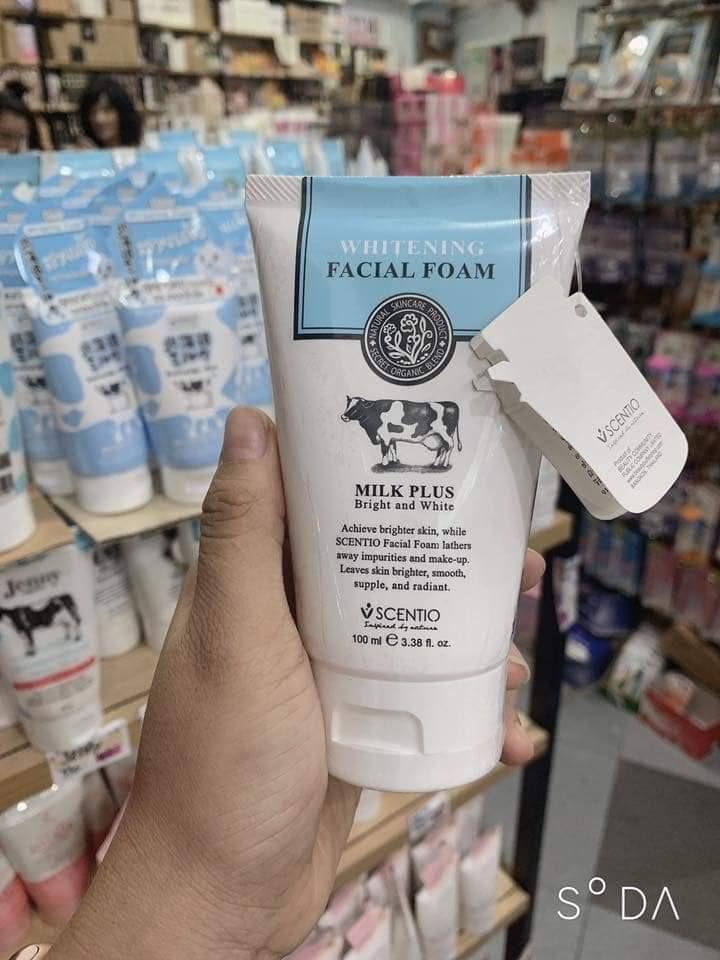 Sữa rửa mặt tạo bọt Whitening Facial Foam Milk Plus Co-Enzyme Q10