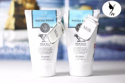 Sữa rửa mặt tạo bọt Whitening Facial Foam Milk Plus Co-Enzyme Q10 ảnh 2