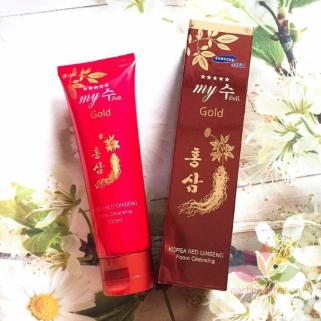 Sữa rửa mặt Gold Korea Red Ginseng Foam Cleansing ảnh 3