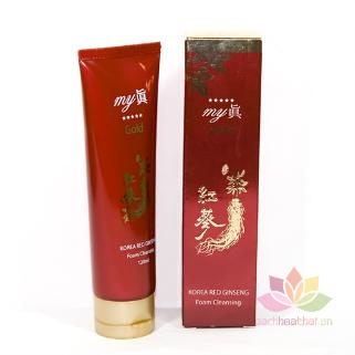 Sữa rửa mặt Gold Korea Red Ginseng Foam Cleansing ảnh 6