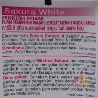 Sữa rửa mặt Sakura White Pinkish Foam ảnh 7