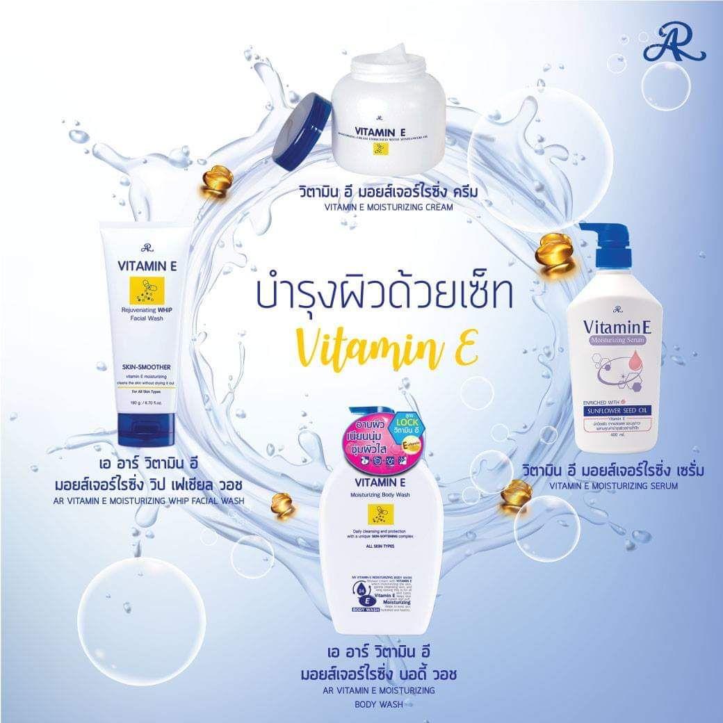 Sữa rửa mặt dưỡng ẩm trẻ hoá làn da AR Vitamin E Moisturizing Facial Wash