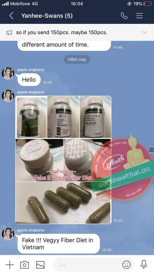 Giảm cân rau xanh Yanhee Veggy Fiber Diet