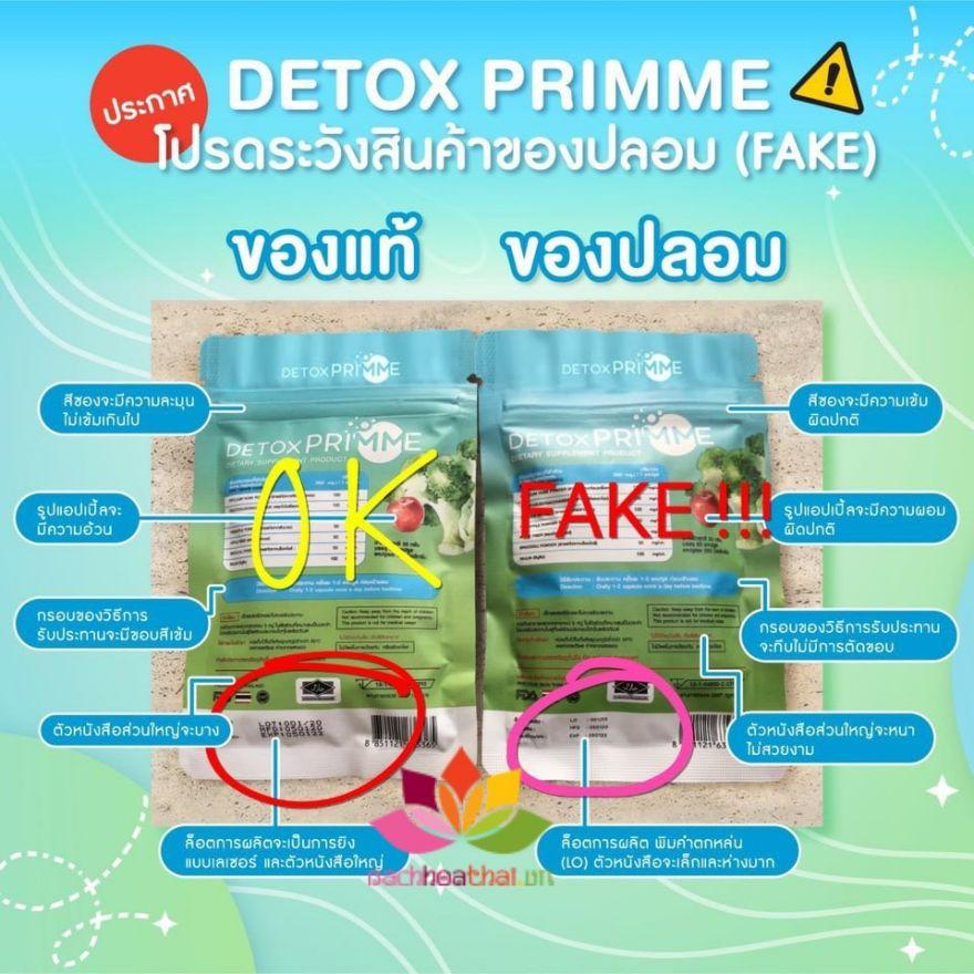 Viên uống khử mỡ giảm cân thải độc Detox Primme