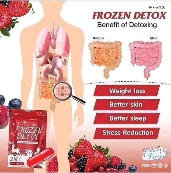 Viên uống khử mỡ giảm cân Frozen Detox