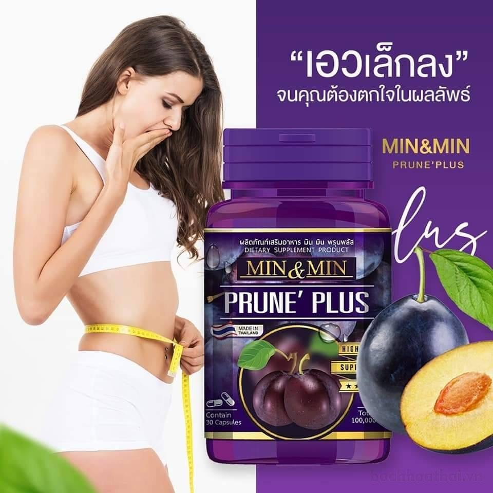 Viên uống tan mỡ bụng Min & Min Prune Plus Thái Lan