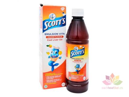 Siro SCOTT'S Emuls Vita Thái Lan Giúp Bé Ăn Ngon Và Mau Tăng Cân ảnh 1
