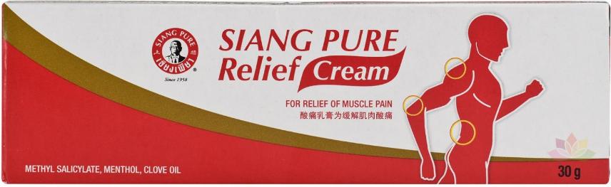 Dầu nóng giảm đau cơ Siang Pure Relief Cream ảnh 3