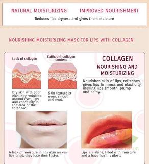 Mặt nạ môi Collagen Bioaqua ảnh 3