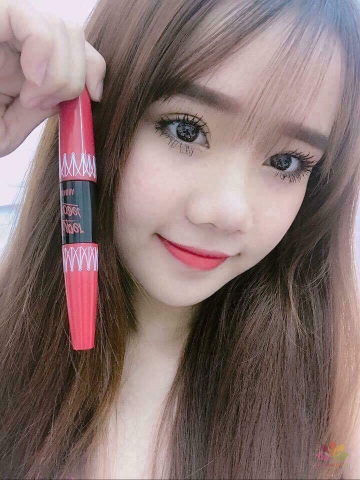 Mascara nối mi 2 đầu  Super Model 5X Long Deep Black Warterproof