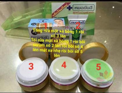 Bộ trị thâm mụn dưỡng trắng da Yanhee Xanh lá ảnh 2
