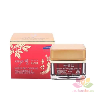 Kem hồng sâm Korea Red Ginseng Aqua Cream ngày và đêm ảnh 9