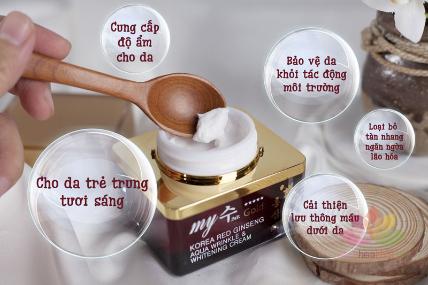Kem hồng sâm Korea Red Ginseng Aqua Cream ngày và đêm ảnh 4