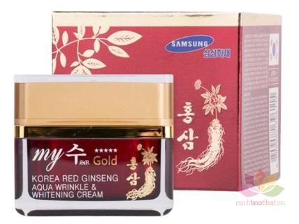 Kem hồng sâm Korea Red Ginseng Aqua Cream ngày và đêm ảnh 1