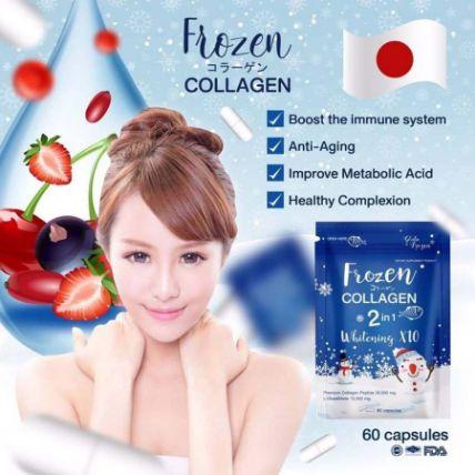 Viên uống Frozen Collagen 2 in 1 Whitening X10 ảnh 2