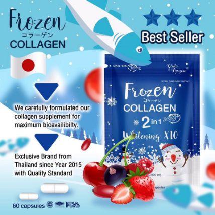 Viên uống Frozen Collagen 2 in 1 Whitening X10 ảnh 8