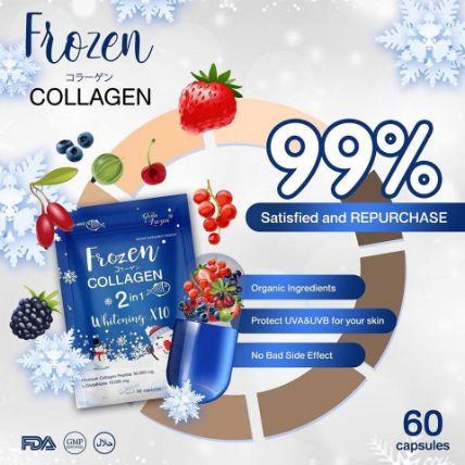 Viên uống Frozen Collagen 2 in 1 Whitening X10 ảnh 4
