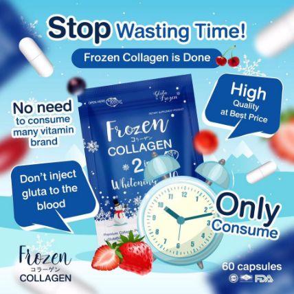 Viên uống Frozen Collagen 2 in 1 Whitening X10 ảnh 7