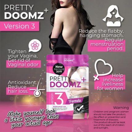 Viên uống nở ngực chăm sóc vùng kín Pretty Doomz Plus ảnh 8