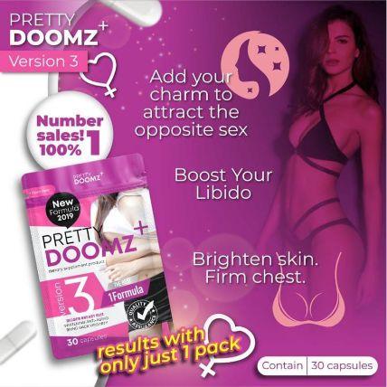 Viên uống nở ngực chăm sóc vùng kín Pretty Doomz Plus ảnh 11