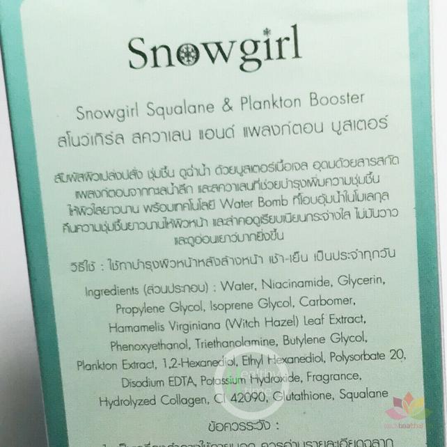 Serum vi tảo biển Snowgirl Squalane & Plankton Booster ảnh 8