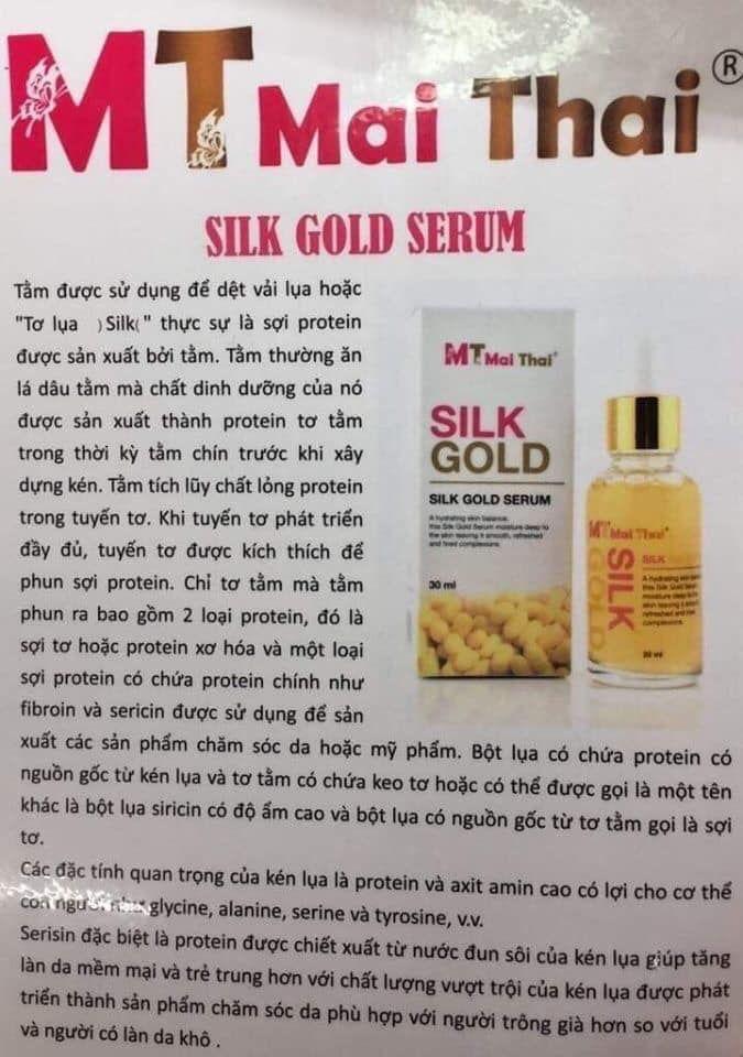 Serum tơ tằm MT Mai Thai Silk Gold hoàng gia Thái Lan