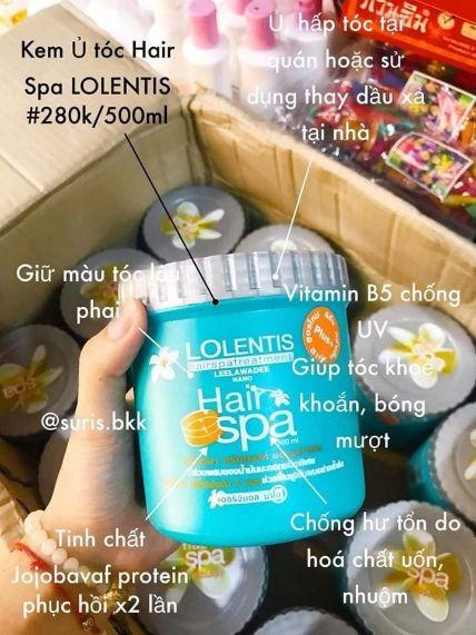 Ủ tóc Lolentis Hair SPA Leelawadee Nano 500 ml ảnh 12