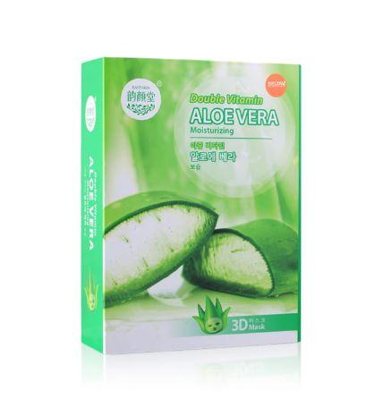 Hộp 10 mặt nạ cao cấp 3D nha đam Vitamin Aloe Vera  ảnh 3